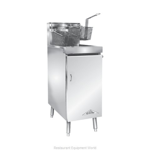 Comstock Castle 14HF Fryer, Gas, Floor Model, Full Pot