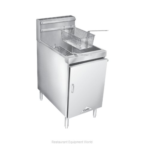 Comstock Castle 18HF Fryer Floor Model Gas Full Pot