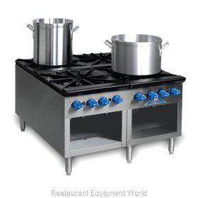 Comstock Castle 2SP36 Range, Stock Pot, Gas
