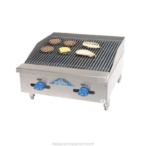 Comstock Castle 3224RB Charbroiler, Gas, Countertop