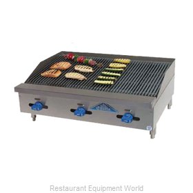 Comstock Castle 3236RB Charbroiler, Gas, Countertop