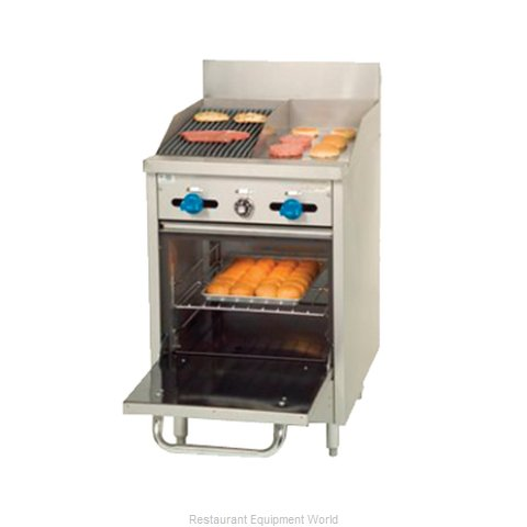 Comstock Castle F318-12-1RB Charbroiler Gas Restaurant Range Match