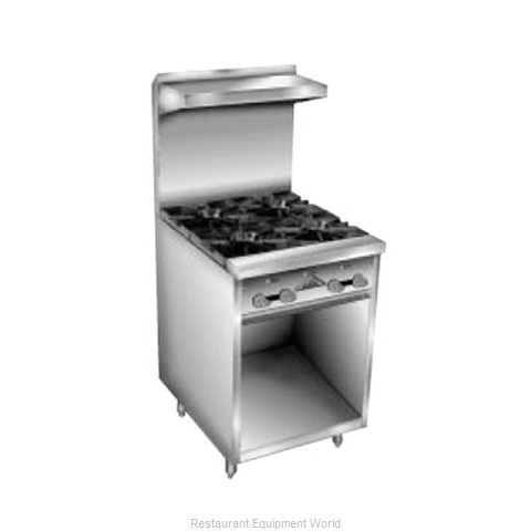 Comstock Castle F32 Range 24 4 open burners