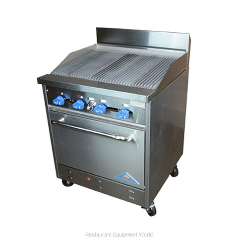Comstock Castle F326-2.5RB Charbroiler Gas Restaurant Range Match