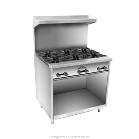 Comstock Castle F33 Range 36 6 open burners