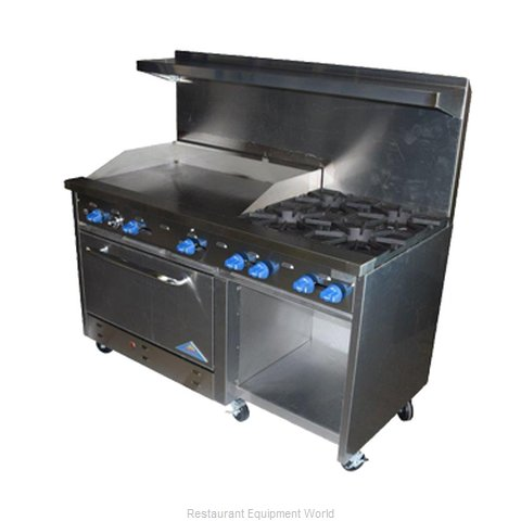 Comstock Castle F33032-24 Range 60 6 Open Burners 24 Griddle