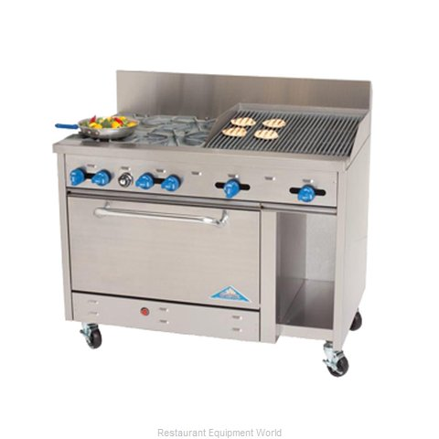 Comstock Castle F3430-1RB Charbroiler Gas Restaurant Range Match