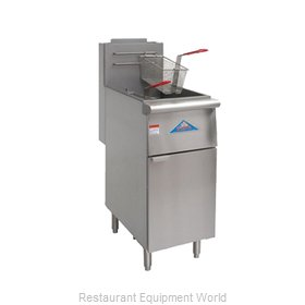Comstock Castle F4/EFS16-G Fryer, Gas, Floor Model, Full Pot