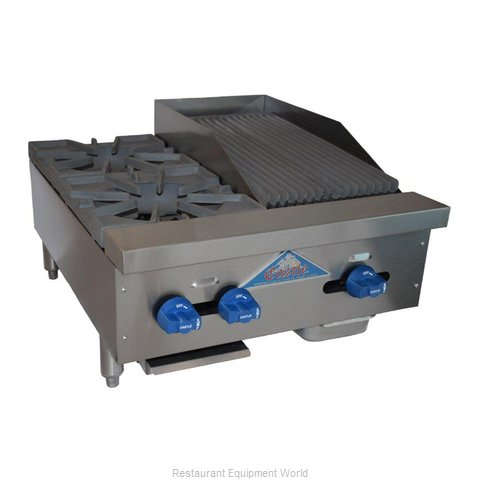 Comstock Castle FHP24-1RB Charbroiler / Hotplate, Gas, Countertop
