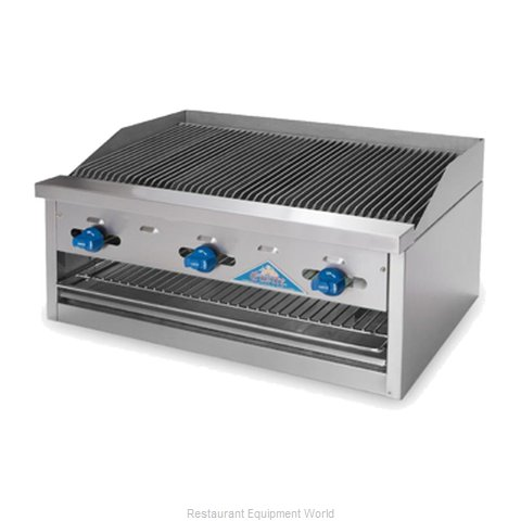 Comstock Castle FHP24-2LBB Charbroiler Gas Counter Model