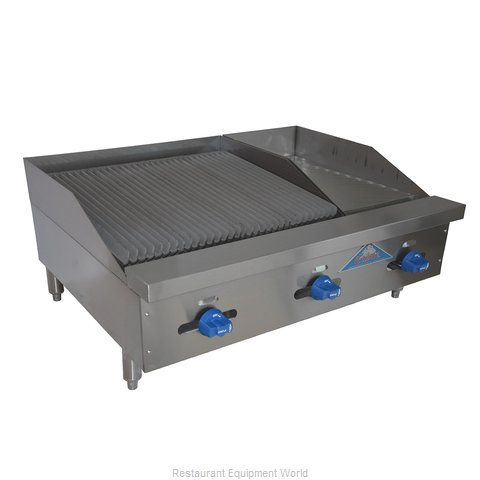 Comstock Castle FHP36-12-2LB Charbroiler Griddle Gas Counter Model