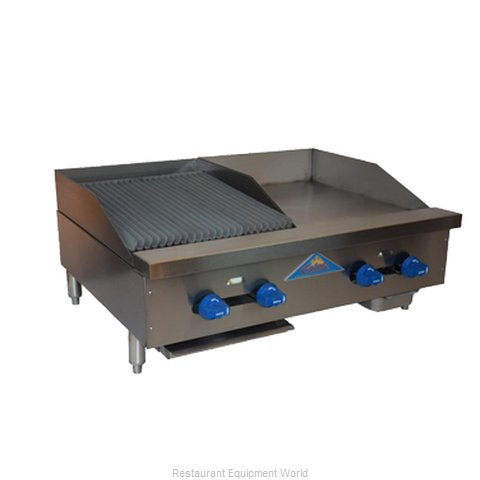 Comstock Castle FHP36-18-1.5LB Charbroiler Griddle Gas Counter Model