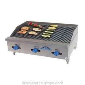 Comstock Castle FHP36-3RB Charbroiler, Gas, Countertop