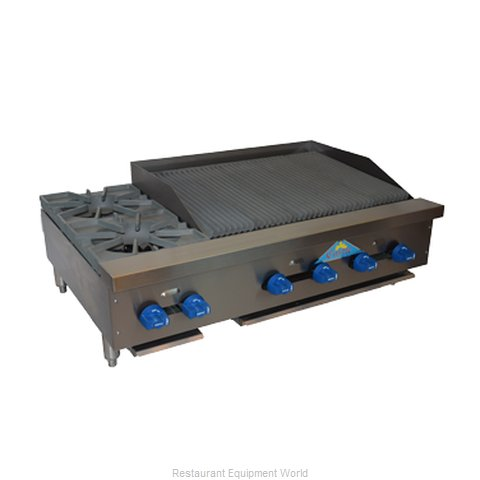 Comstock Castle FHP42-2.5RB Charbroiler Hotplate Gas Counter Model