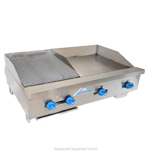 Comstock Castle FHP42-24-1.5LB Charbroiler/Griddle, Gas, Counter Model