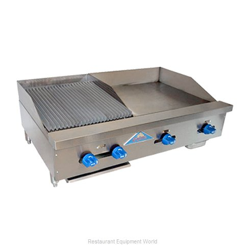 Comstock Castle FHP42-24-1.5RB Charbroiler Griddle Gas Counter Model