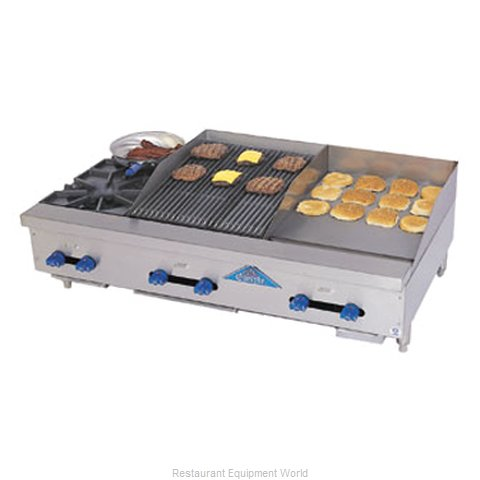 Comstock Castle FHP48-18T-1.5RB Charbroiler/Griddle, Gas, Counter Model