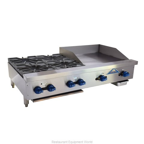 Comstock Castle FHP48-24-2LB Charbroiler Griddle Gas Counter Model