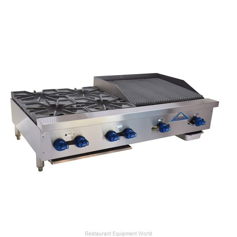 Comstock Castle FHP48-24-2RB Charbroiler Griddle Gas Counter Model