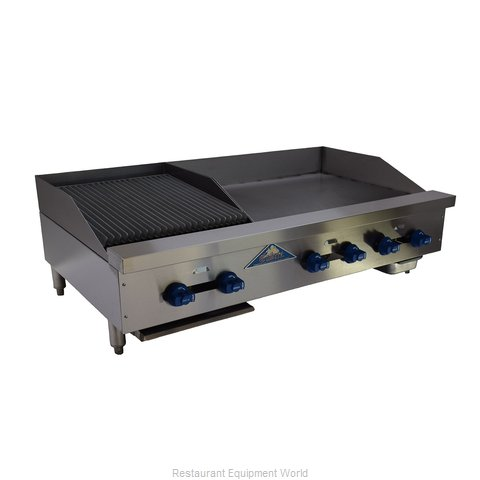 Comstock Castle FHP48-30T-1.5RB Charbroiler/Griddle, Gas, Counter Model