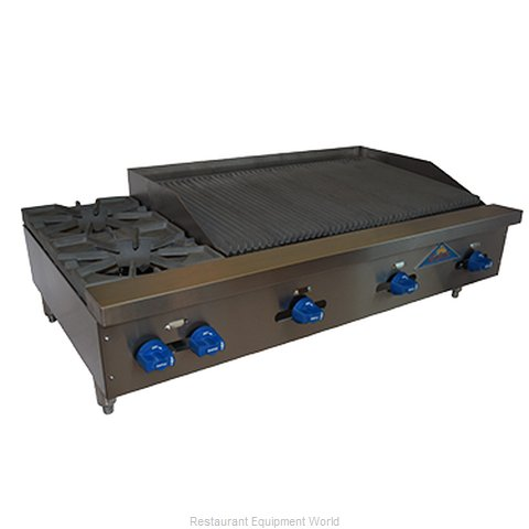 Comstock Castle FHP48-3LB Charbroiler Hotplate Gas Counter Model