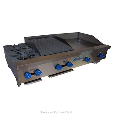 Comstock Castle FHP54-24T-1.5RB Charbroiler/Griddle, Gas, Counter Model