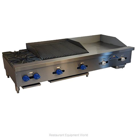 Comstock Castle FHP60-24T-2RB Griddle / Charbroiler, Gas, Countertop