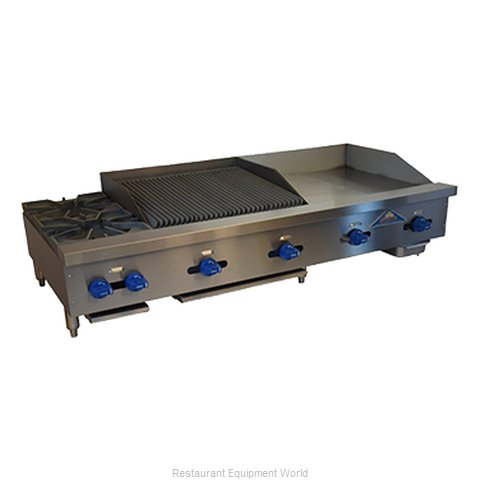 Comstock Castle FHP72-30T-2.5RB Charbroiler/Griddle, Gas, Counter Model