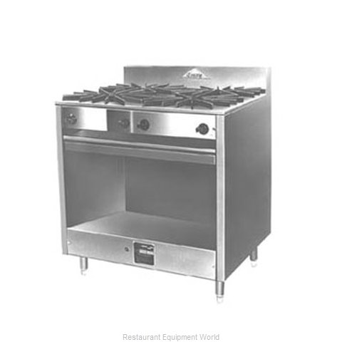 Comstock Castle FK43-18 Range 36 2 open burners 24 griddle