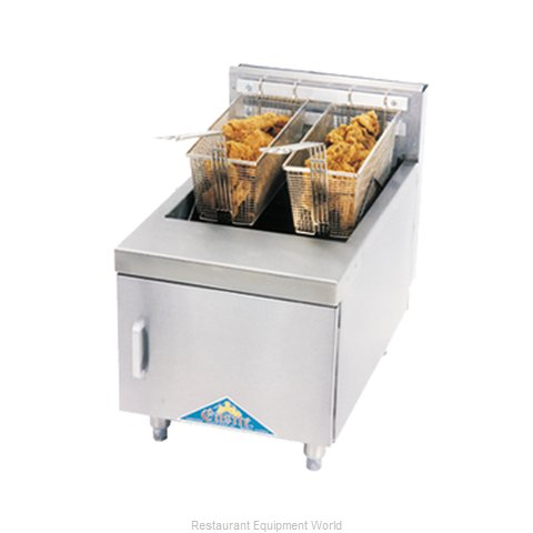 Comstock Castle JO1HG Fryer Counter Unit Gas Full Pot (Magnified)
