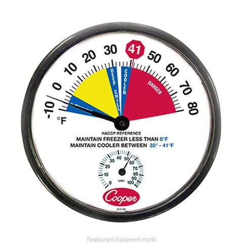Cooper Atkins 212-159-8 Thermometer Refrig Freezer