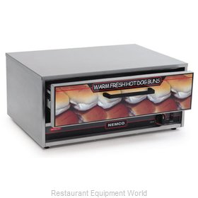 Connolly Roll-A-Grill by Nemco 8045N-BW Hot Dog Bun / Roll Warmer