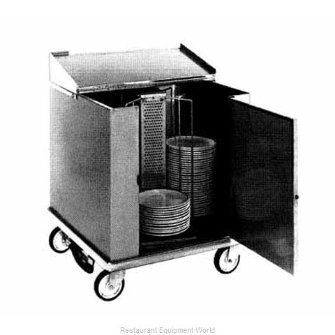Carter-Hoffmann CD260H Cart Heated Dish Storage