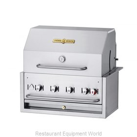 Crown Verity CV-BI-30PKG-NG Charbroiler, Gas, Outdoor Grill