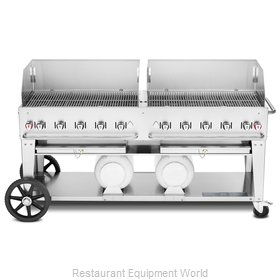 Crown Verity CV-CCB-72WGP Charbroiler, Gas, Outdoor Grill