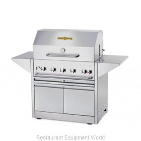 Crown Verity CV-MBI-36-NG Charbroiler, Gas, Outdoor Grill
