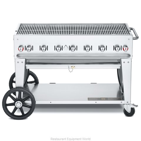 Crown Verity CV-MCB-48-SI50/100 Charbroiler, Gas, Outdoor Grill