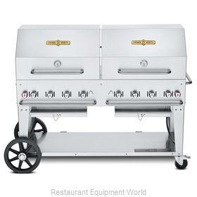 Crown Verity CV-MCB-60RDP-LP Charbroiler, Gas, Outdoor Grill