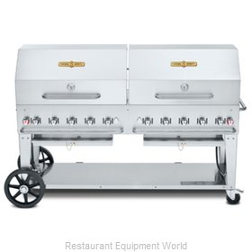 Crown Verity CV-MCB-72RDP-LP Charbroiler, Gas, Outdoor Grill