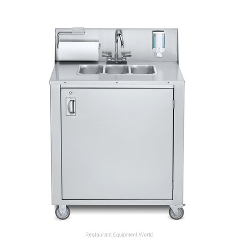 Crown Verity CV-PHS-3C Hand Sink, Mobile (Magnified)