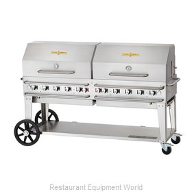Crown Verity CV-RCB-72RDP-SI-LP Charbroiler, Gas, Outdoor Grill