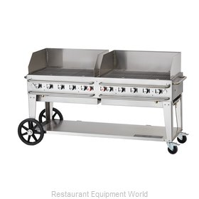 Crown Verity CV-RCB-72WGP-SI-LP Charbroiler, Gas, Outdoor Grill
