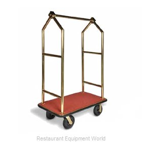 CSL Foodservice and Hospitality 2633BK-030-RED Luggage Cart