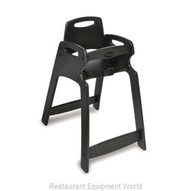 CSL Foodservice and Hospitality 333-BLK-KD High Chair Plastic