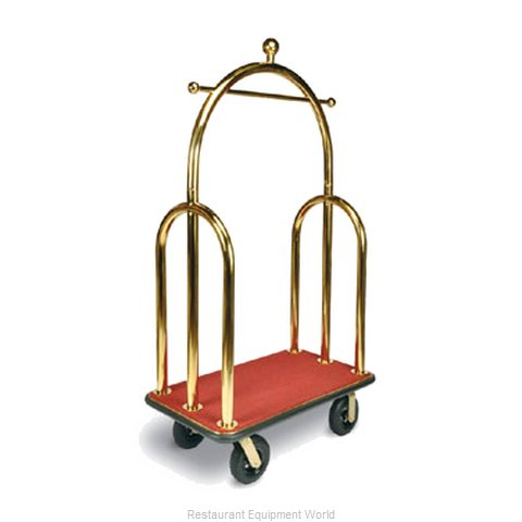 CSL Foodservice and Hospitality 3533BK-030-RED Luggage Cart