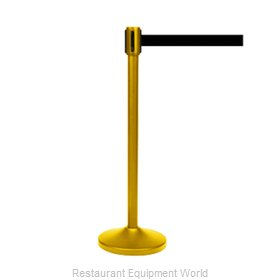 CSL Foodservice and Hospitality 5500GD-BLK Crowd Control Stanchion (Portable)