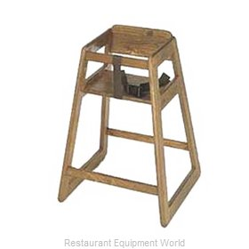 CSL Foodservice and Hospitality 801DK-2 High Chair Wood