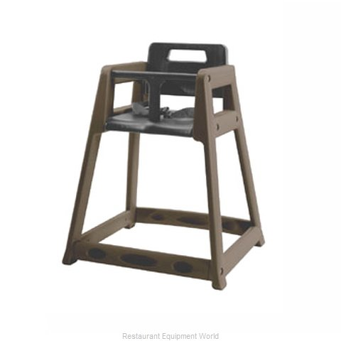 CSL Foodservice and Hospitality 850-C-BRN High Chair Plastic