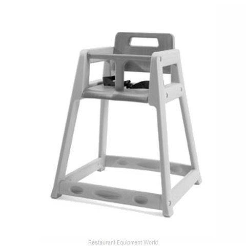 CSL Foodservice and Hospitality 850-DGY-KD High Chair Plastic