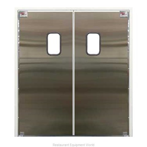 Curtron 30-SS-96X96-D Door Kitchen Traffic (Magnified)